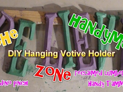 Make a Hurricane Candle Holder with recycled wood, Crafts & decorating Ideas