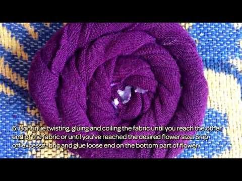 Make Cool Rolled Fabric Flowers - DIY Crafts - Guidecentral