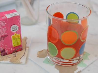 Make Fun Coasters with the Kids - Let's Craft with ModernMom
