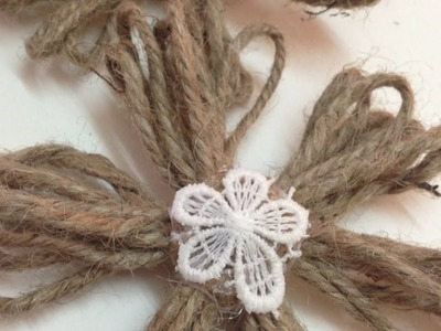 Make Simple Twine Flowers - DIY Crafts - Guidecentral