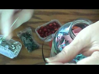 Mini Tutorial to make Ribboned Stick Pins