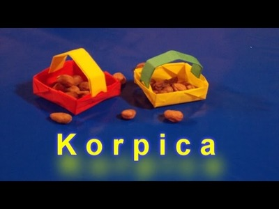 Origami: Korpica Od Papira-How to make Basket out of paper