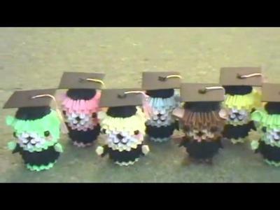 Paper graduation bears (3D origami)