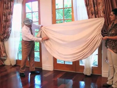 Perfect Curtain Swags DIY | How to Make Swags |Galaxy-Design Video #95