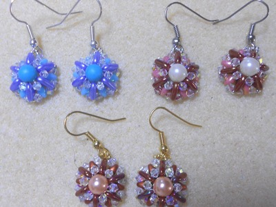 Pinwheel Earrings Beading video tutorial by Ezeebeady.