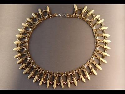Rays of Light - Beaded necklace by Sidonia's handmade jewelry