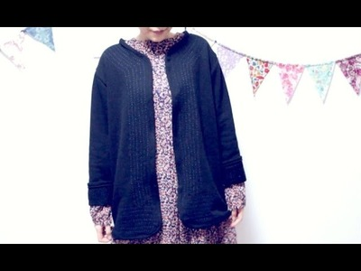 Sewing + DIY Sashiko Jacket. Cardigan