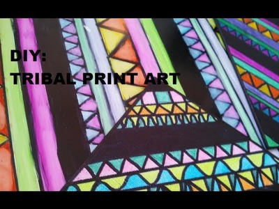 Sharpie Speed Drawing - DIY Tribal Print Art