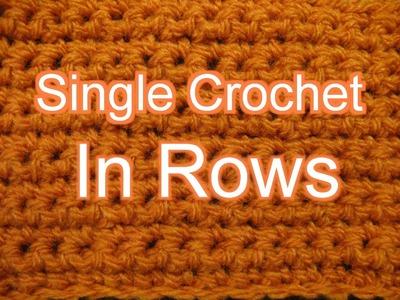 Single Crochet in Rows - Slow Motion