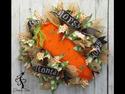 Trendy Tree DIY Burlap Carrot Easter Wreath Tutorial