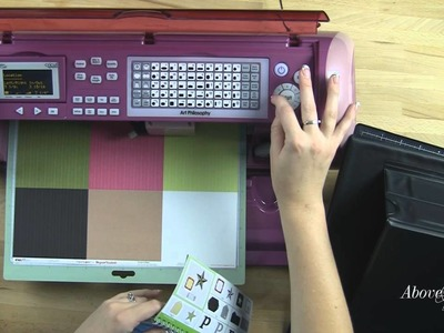 Art Philosophy Cricut Cartridge Layout with Scrappin' Easel