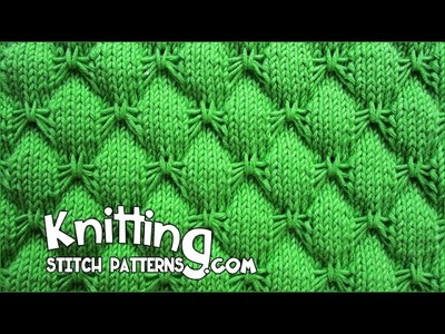 Butterfly stitch - KNITTING