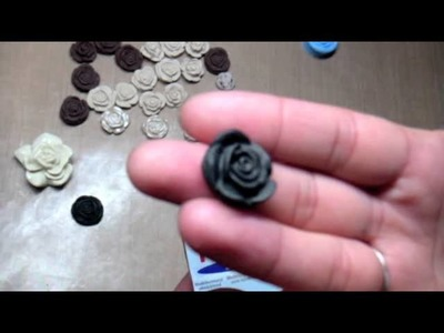 Cameo-like Clay Roses Tutorial