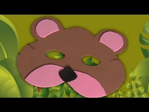 Carnival bear mask, how to make homemade customes