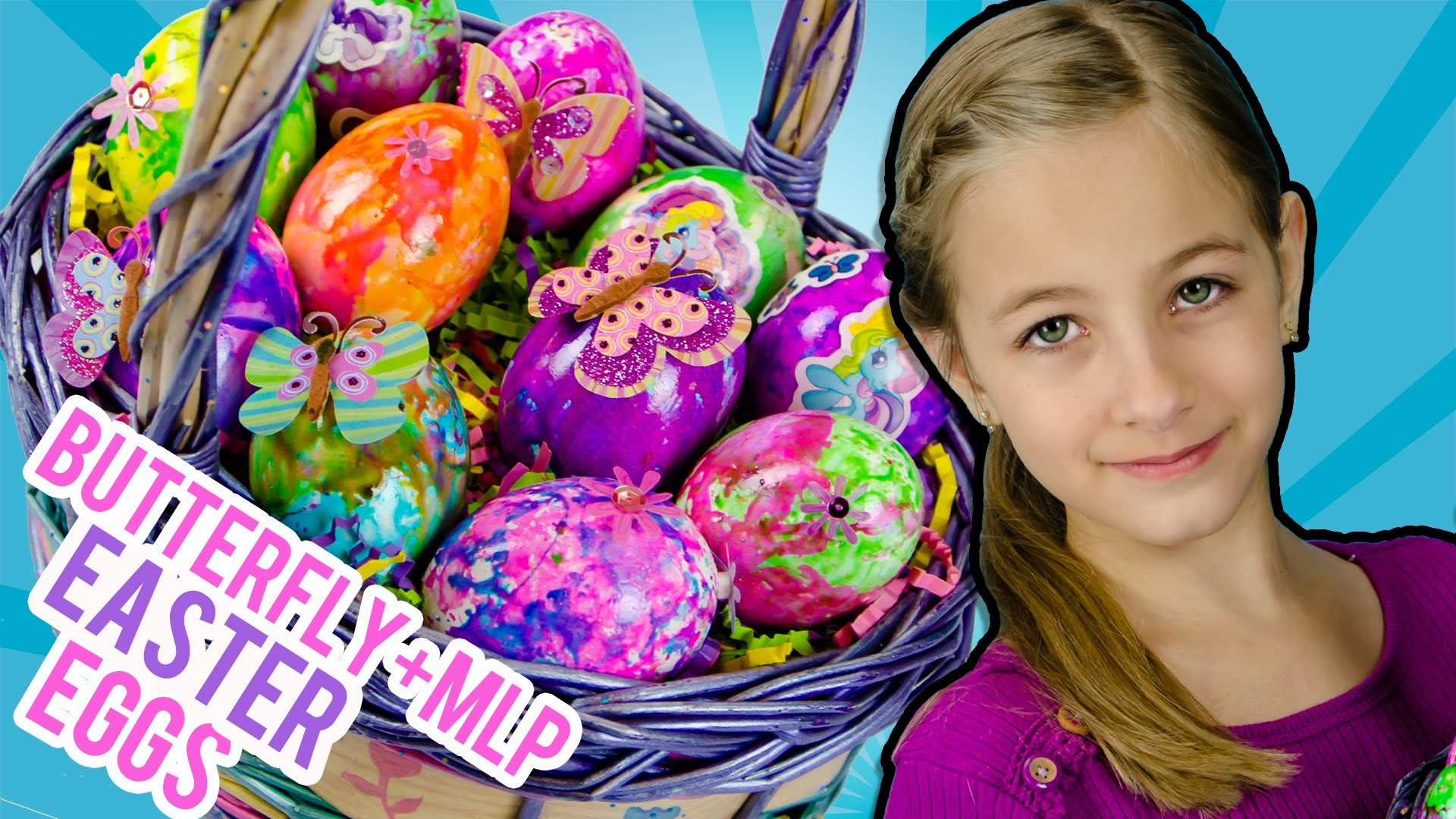 Coloring EASTER EGGS My Little Pony Butterfly DIY Craft Video Review by PLP TV