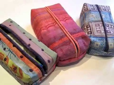 Colouricious Sewing Craft Projects make your own tissue box cover and wash bag