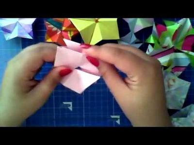 Como dobrar: Origami Modular Star (portuguese) Part 2 of 2 [HD]
