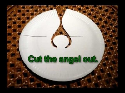 Craft ideas for Christmas - Angel made from paper plate