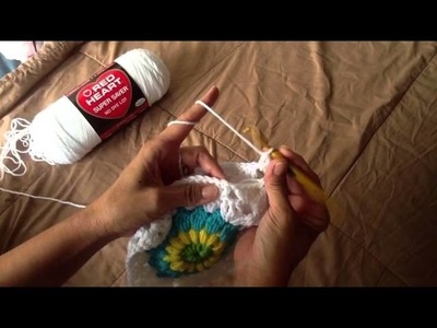 Crochet Granny Squares Together - Alicia DR Hankins