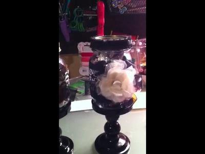 DIY candlestick mason jar gifts