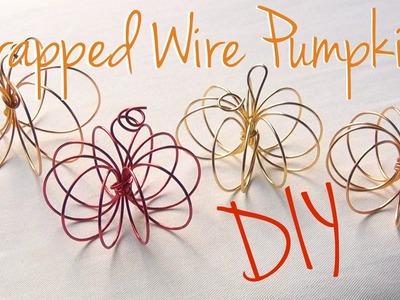 DIY Décor ♥ Wrapped Wire Pumpkins