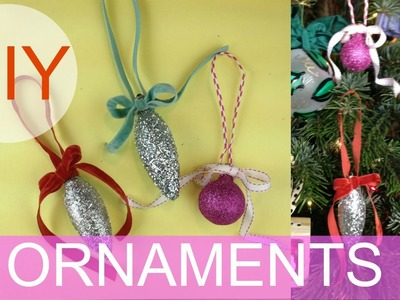 DIY Glitter Ornament | Upcycle Decorating | by Michele Baratta