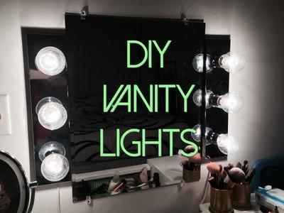 DIY HOLLYWOOD VANITY LIGHTS SETUP