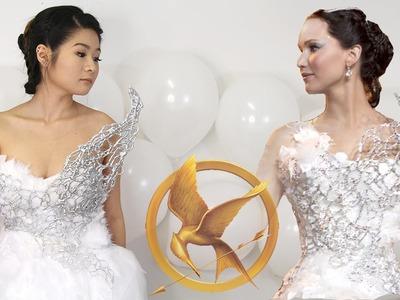 DIY Hunger Games Catching Fire Katniss Everdeen Wedding Dress | Halloween