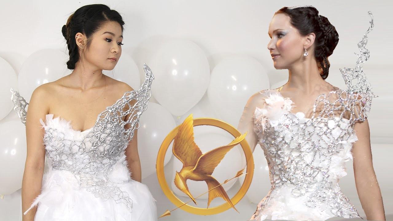 DIY Hunger Games Catching Fire Katniss Everdeen Wedding Dress   Halloween