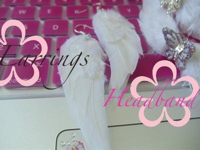 DIY: MeiIris' Angel Wing Earrings & Headband (Real Feathers) Tutorial