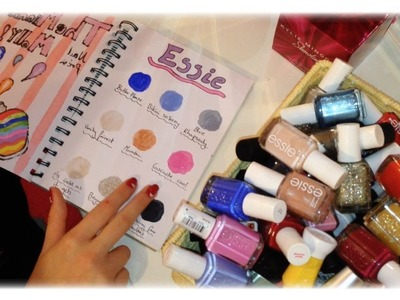 DIY Nail Polish Swatch Book♡