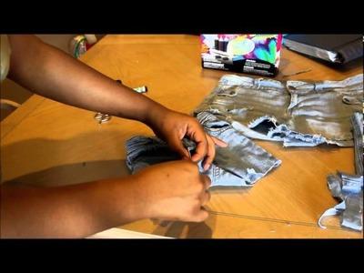 DIY Rainbow Tie Dye Shorts