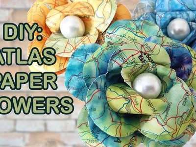 DIY: Recycled Atlas - How to make paper flowers - Sustainable Patch