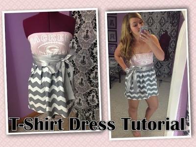 DIY T Shirt Dress