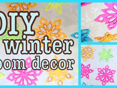 DIY Winter Room Decor ❅ Snowflake Wall Art