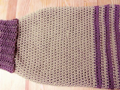 Doggy sweater crochet tutorial for lefthanded