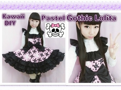 Easy Kawaii DIY - How to Make Pastel Gothic Lolita Dress(make ruffles on the dress)