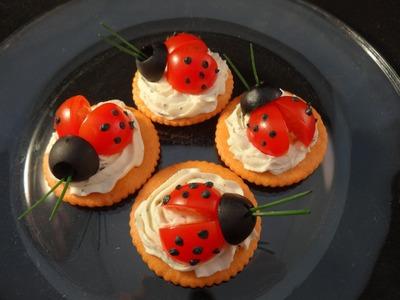 Fun with food: Ladybug cracker appetizers