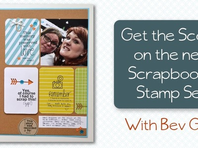 Get the Scoop on the New Technique Tuesday Scrapbook It Stamp Set!