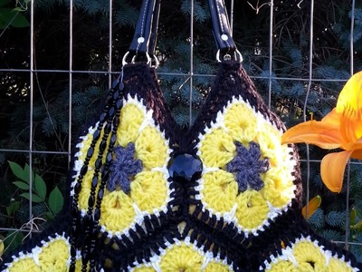 How To #Crochet Hexagon Granny Handbag Purse #TUTORIAL