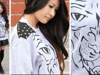 How to   DIY Studded Animal Sweater