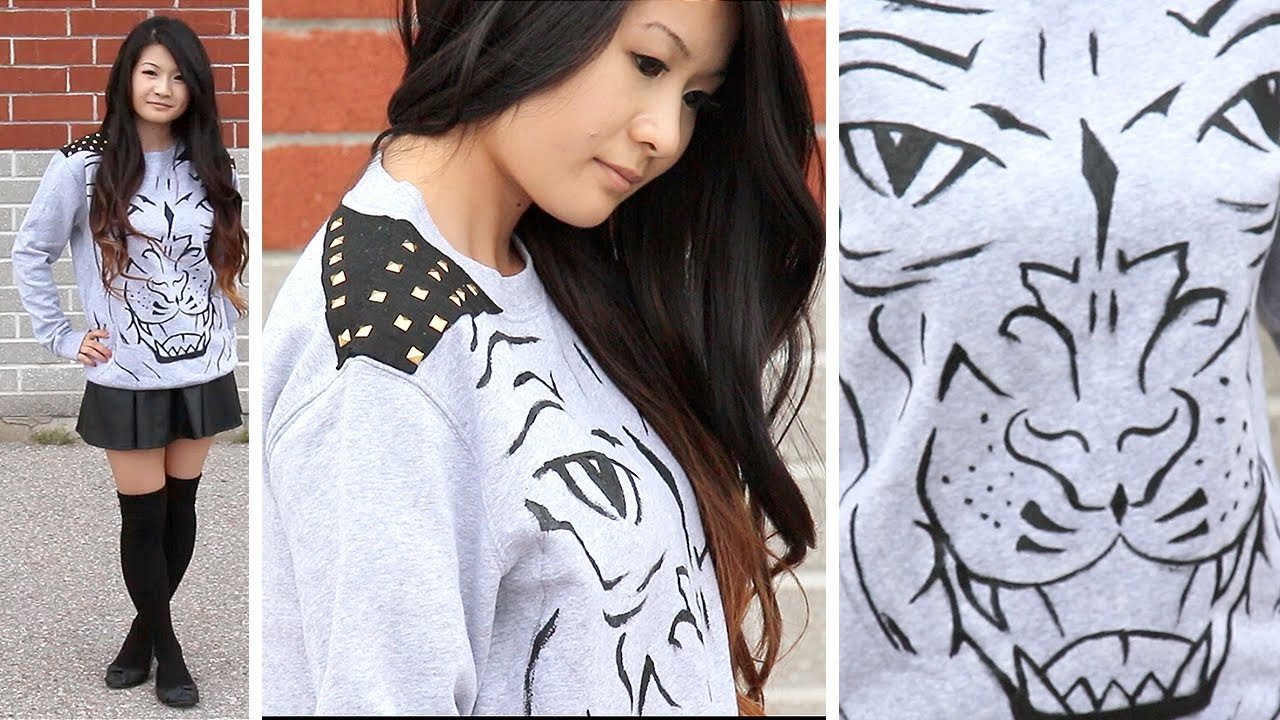 How to | DIY Studded Animal Sweater