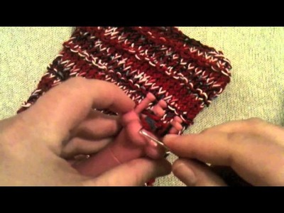How to Loom Knit a Mesh Bag Part 3