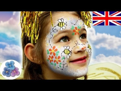 How to make a Bee Face Painting Ideas DIY *Bee Halloween Face Paint* Fancy Dress Costumes Mathie