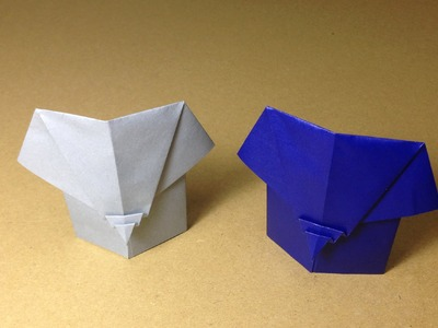 How to Make a Paper Animals. Origami Elephant. Easy for Children