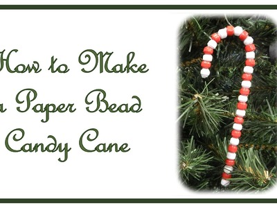 How to Make a Paper Bead Candy Cane Ornament