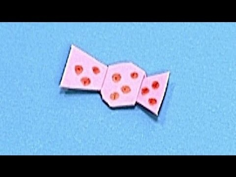 How to make a Paper Ribbon (Tutorial) - Paper Friends 04   Origami for Kids