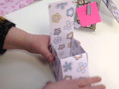 How to make a Popup Box Card without measuring by Nikky Hall Polkadoodles