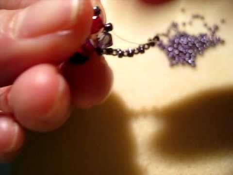 How to Make a Ring with Swarovski Crystal and Fire Polished Beads