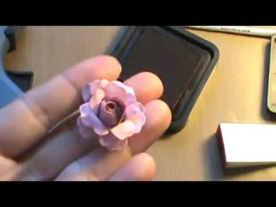 How to make paper roses for your scrapbooks and cards tutorial shabby chic